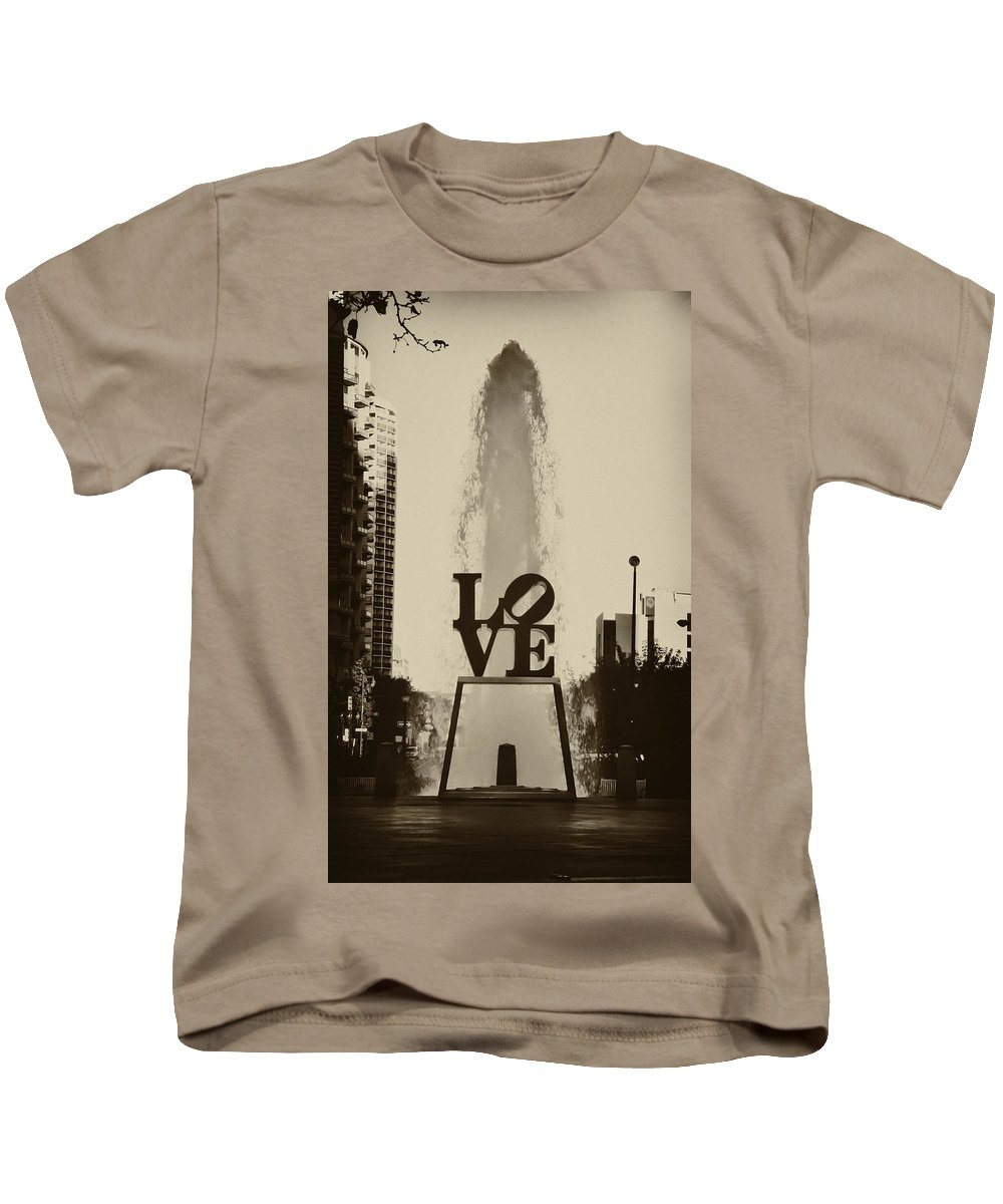 Love Park Kids T-Shirt featuring the photograph Love Love Love by Bill Cannon