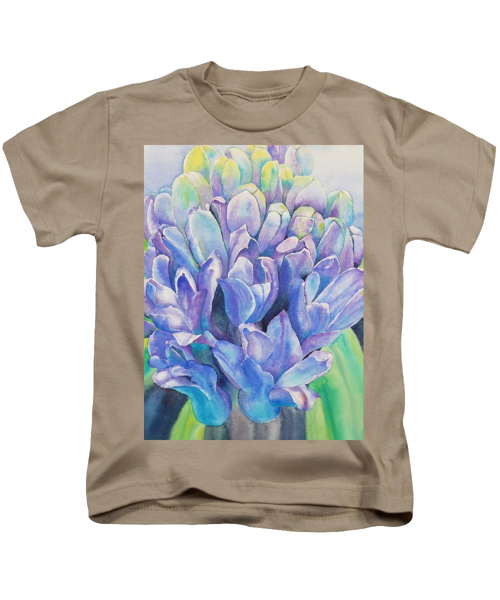 Flower Kids T-Shirt featuring the painting Lovely Lupine by Ruth Kamenev