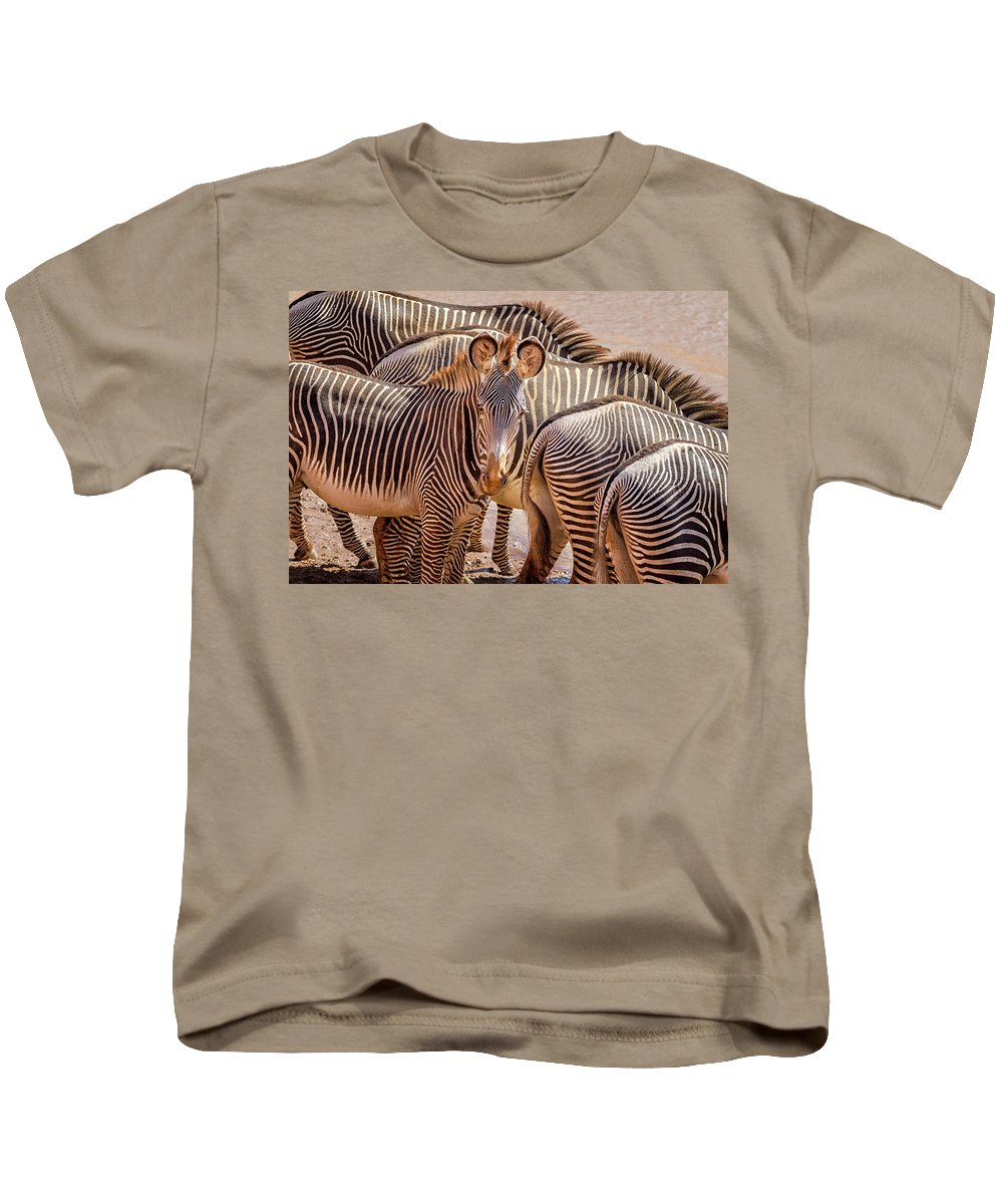 Africa Kids T-Shirt featuring the photograph Lovely Stripes 7589 by Karen Celella
