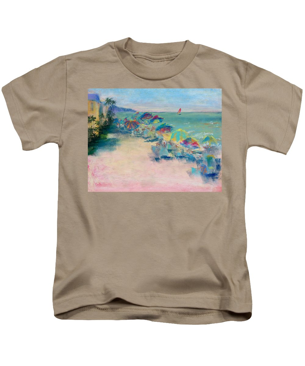 Lowdermilk Park Kids T-Shirt featuring the painting Lowdermilk Park by Laurie Paci