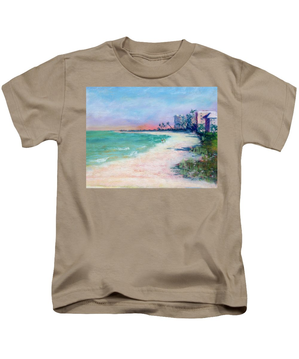 Lowdermilk Park Kids T-Shirt featuring the painting Lowdermilk Park North by Laurie Paci