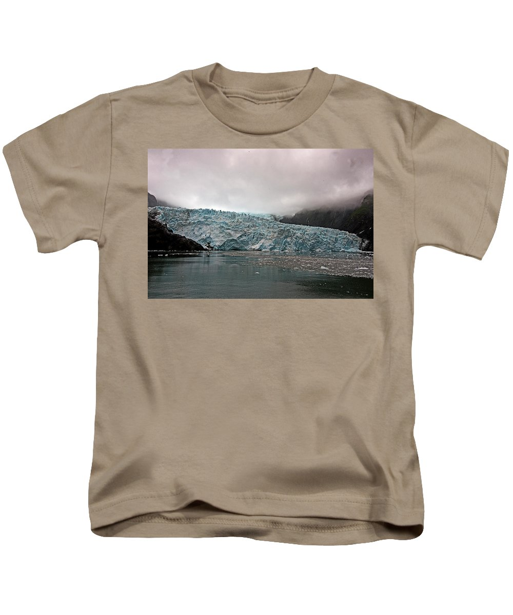 Alaska Kids T-Shirt featuring the photograph Main Glacier by Eric Nelson