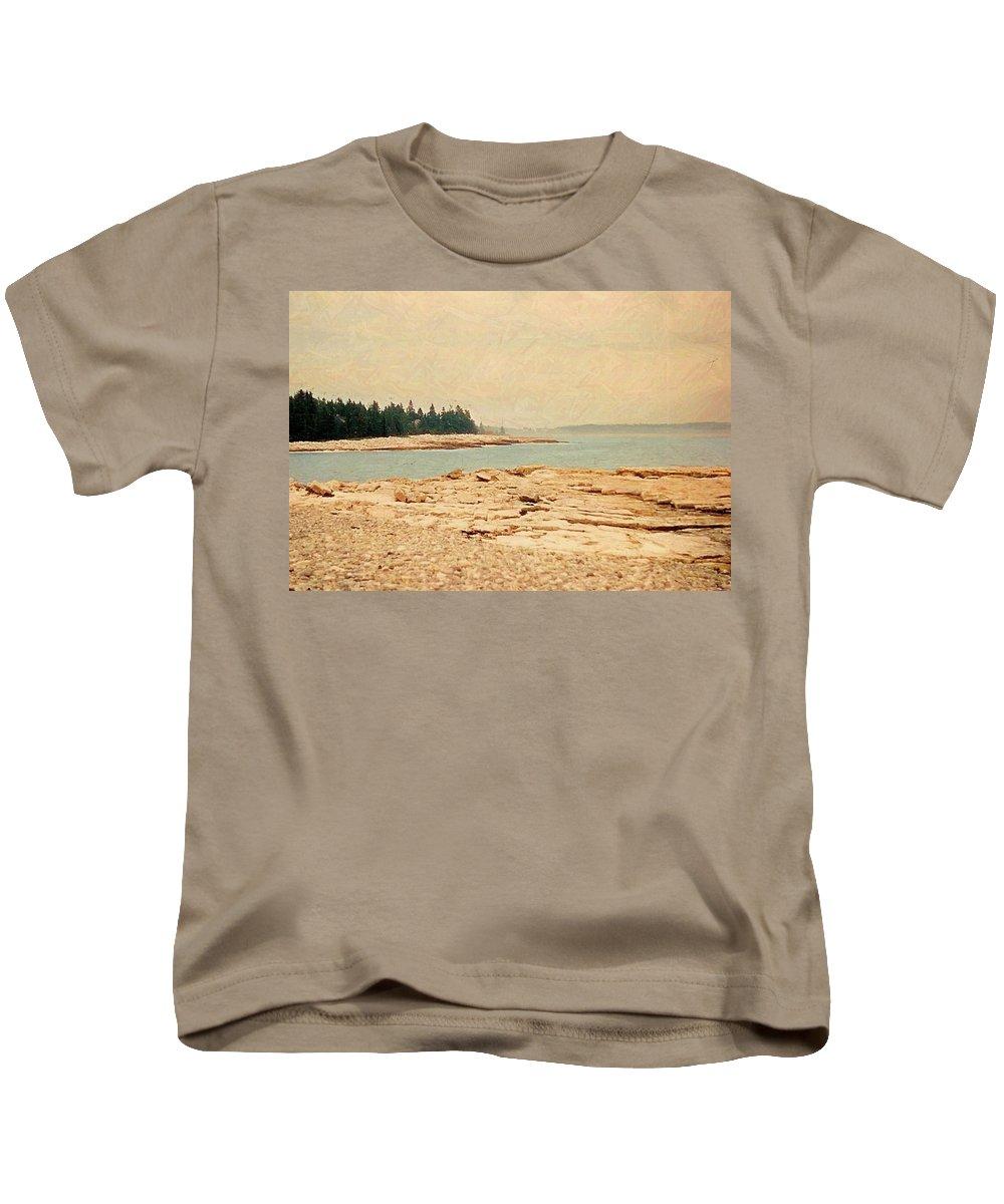 Maine In Summer Kids T-Shirt featuring the photograph Maine Summer by Desiree Paquette