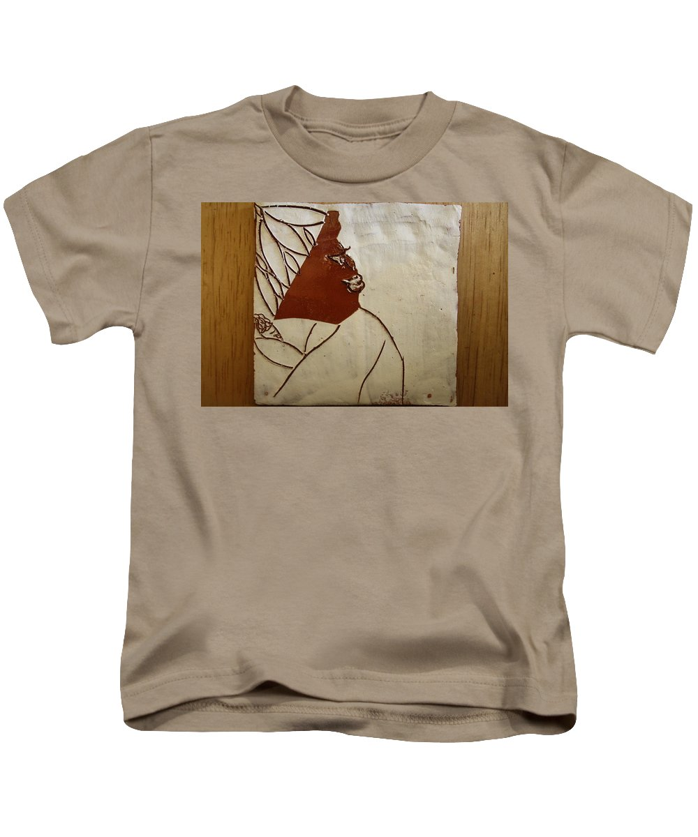 Jesus Kids T-Shirt featuring the ceramic art Mama 1 -tile by Gloria Ssali