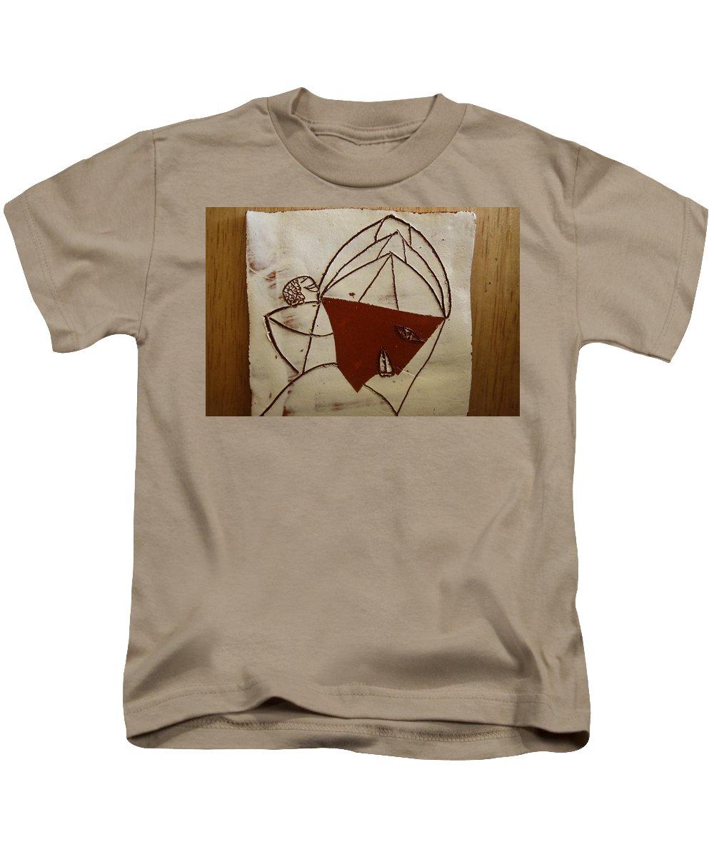 Jesus Kids T-Shirt featuring the ceramic art Mama 8 - Tile by Gloria Ssali