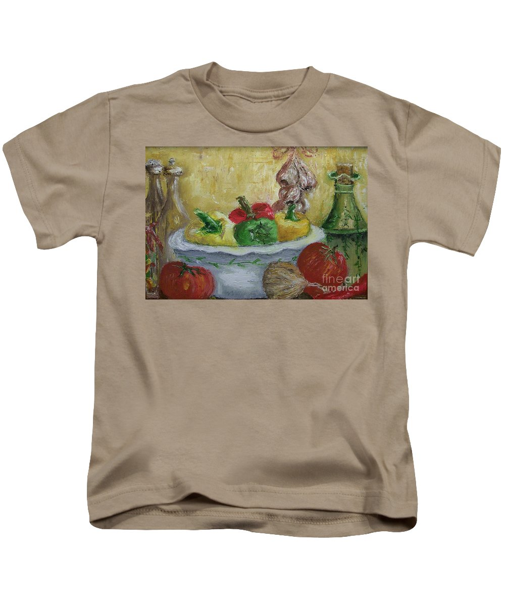 Still Life Kids T-Shirt featuring the painting Mama by Stephen King