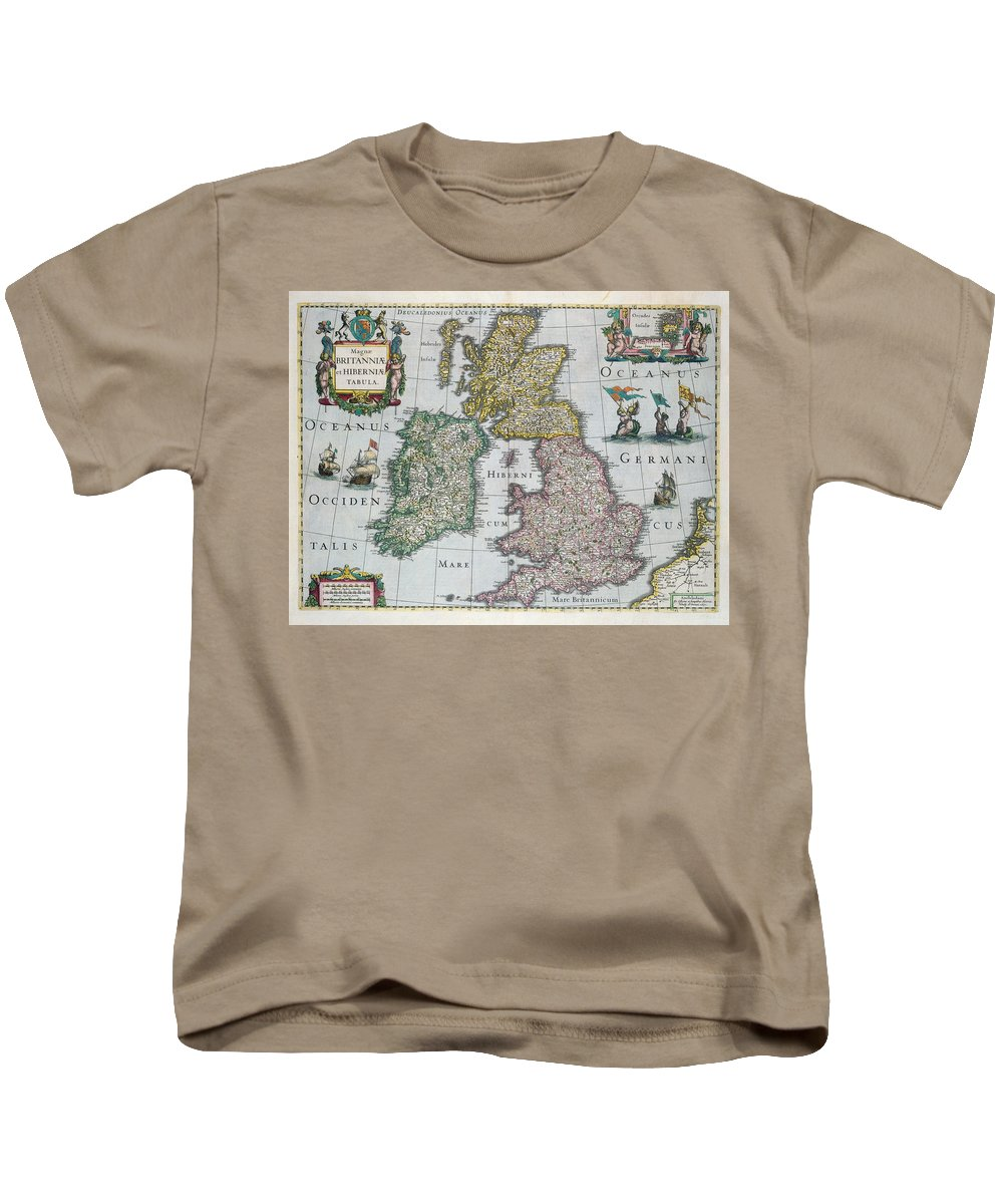 Map Kids T-Shirt featuring the drawing Map Of Britain by English school