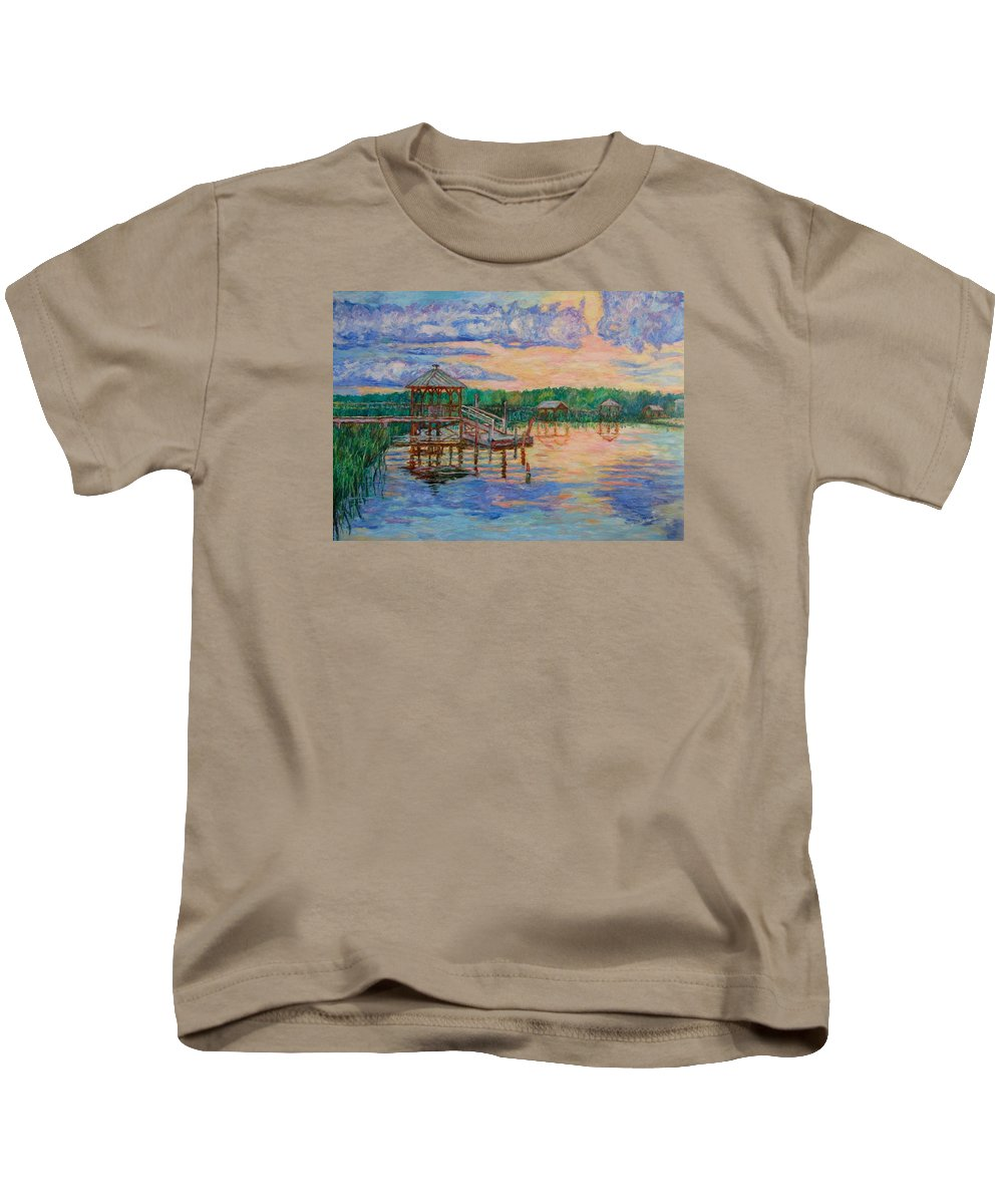 Landscape Kids T-Shirt featuring the painting Marsh View At Pawleys Island by Kendall Kessler
