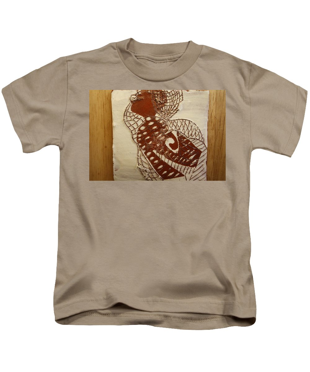 Jesus Kids T-Shirt featuring the ceramic art Matildas Smile - Tile by Gloria Ssali