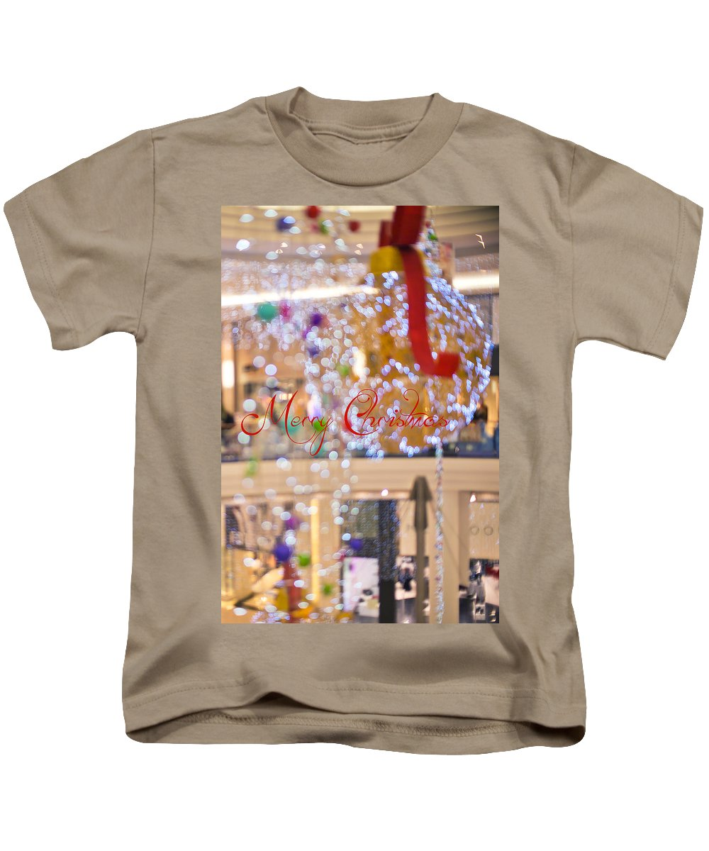 Merry Christmas And Happy New Year Kids T-Shirt featuring the photograph Merry Christmas 2 by Alex Art and Photo