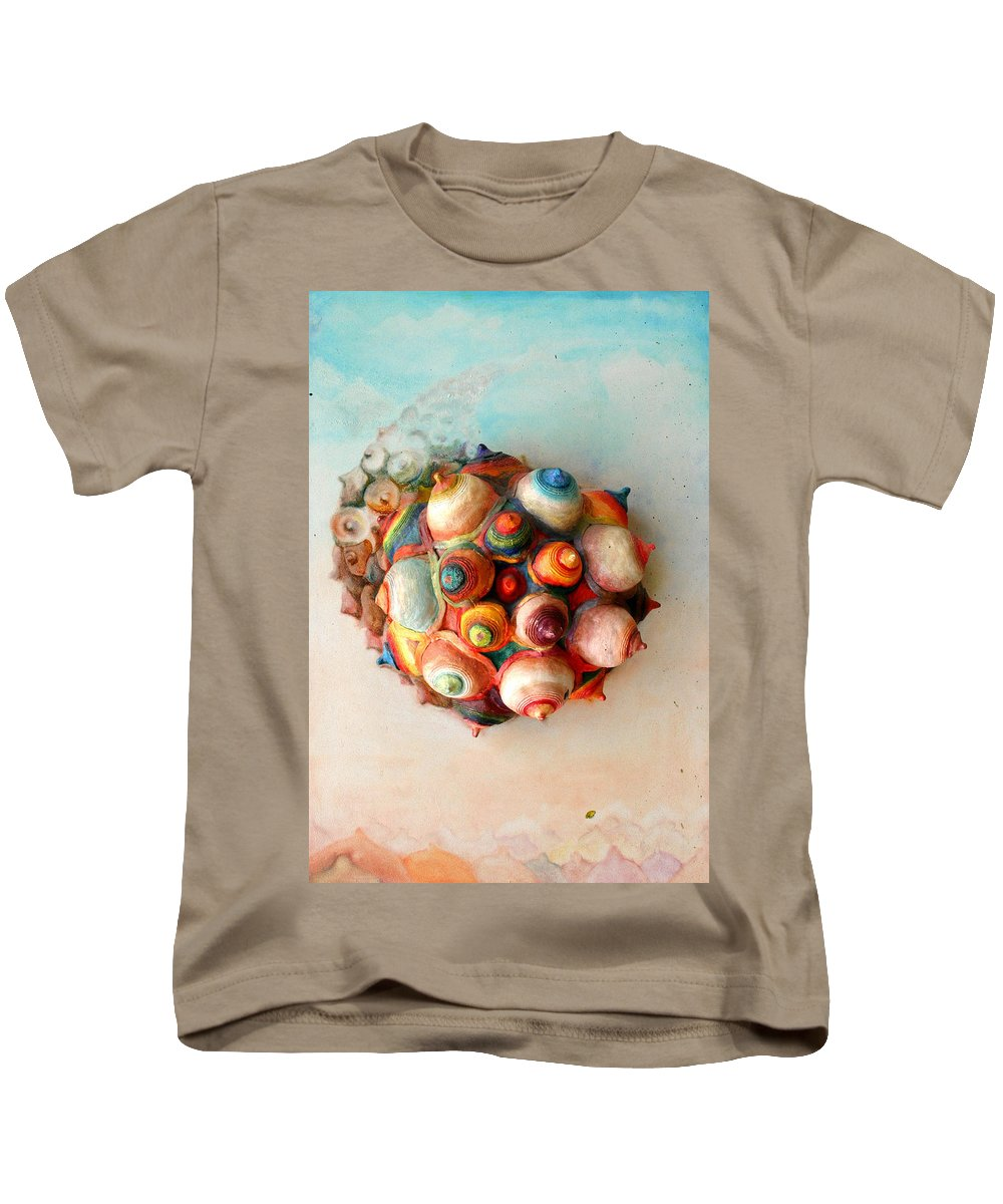 Drawing Kids T-Shirt featuring the painting Meteorum Mammilous by Gideon Cohn