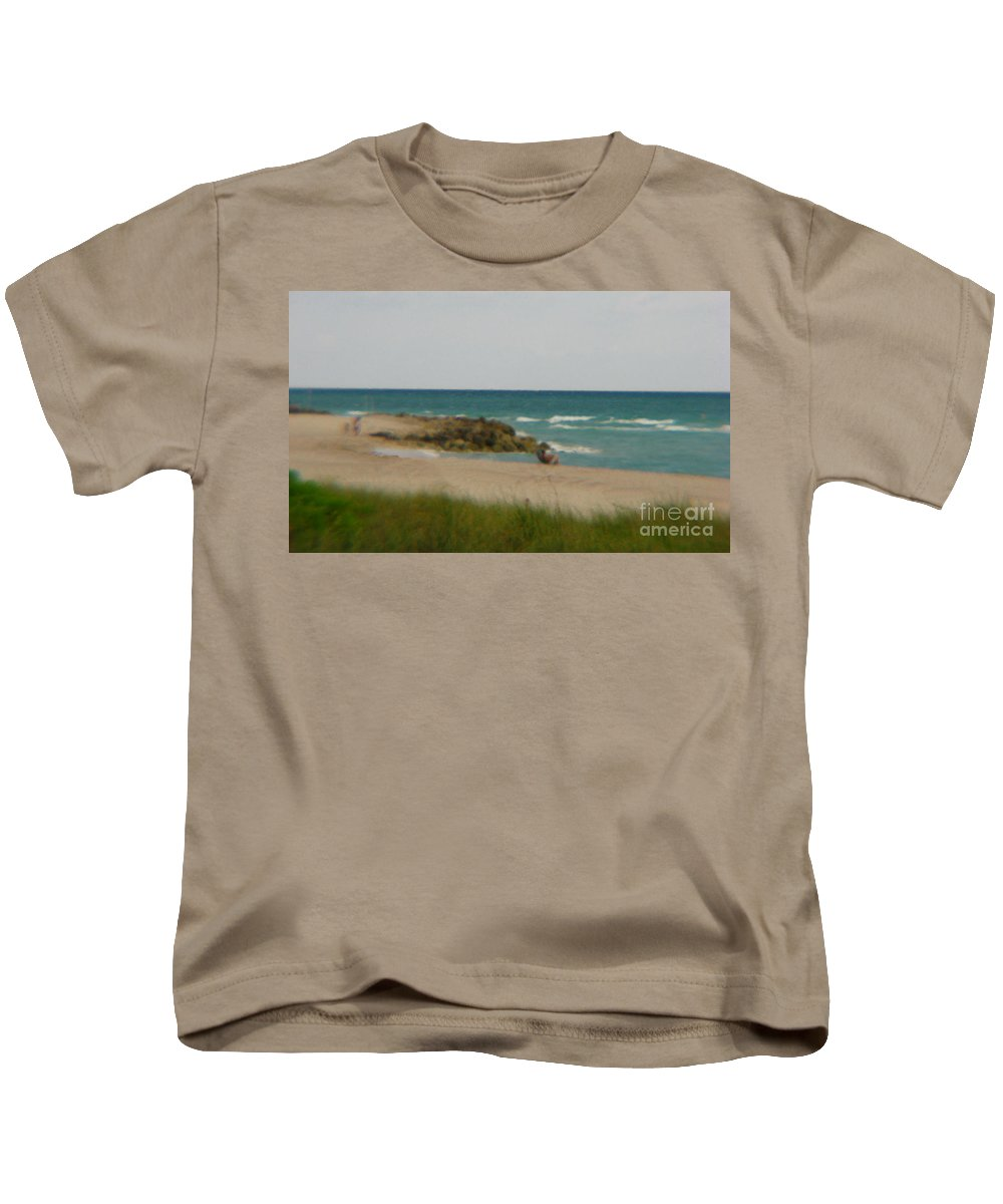 Miami Kids T-Shirt featuring the photograph Miami by Amanda Barcon