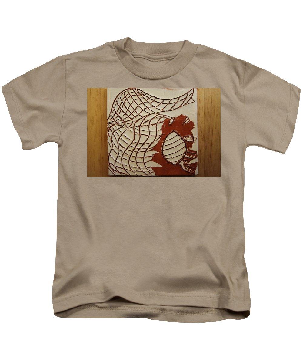 Jesus Kids T-Shirt featuring the ceramic art Mica - Tile by Gloria Ssali
