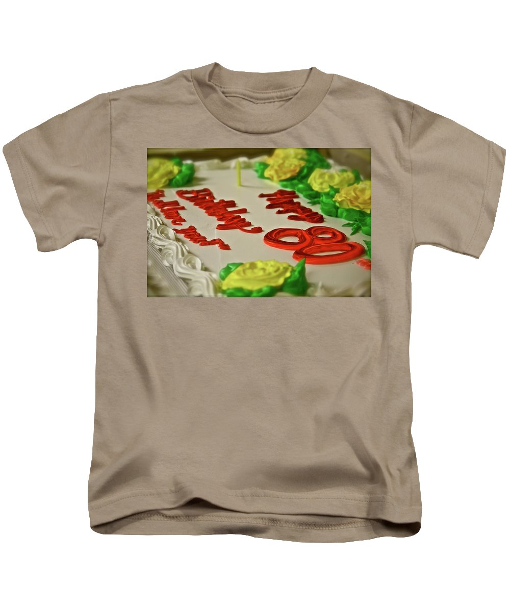 Food Kids T-Shirt featuring the photograph Milestone by Diana Hatcher
