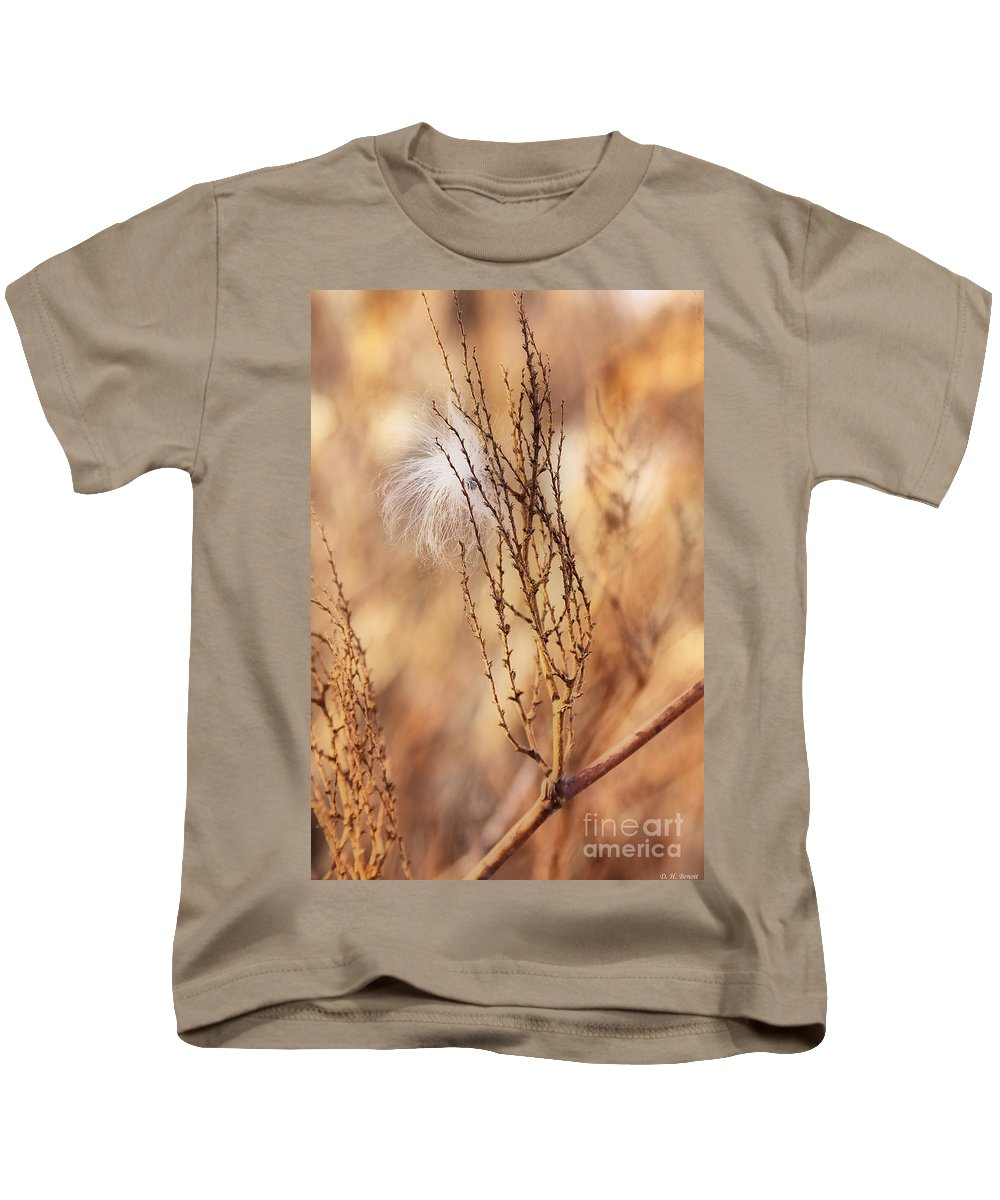 Milkweed Kids T-Shirt featuring the photograph Milkweed In The Breeze by Deborah Benoit