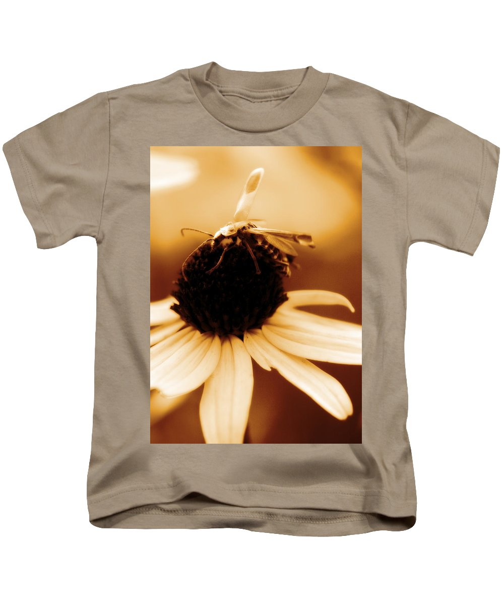 Black Eyed Susan Kids T-Shirt featuring the photograph Mimic by Angela Rath