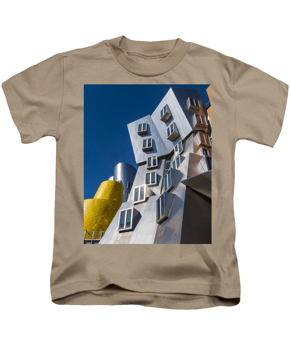 Mit Kids T-Shirt featuring the photograph Mit Stata Center Cambridge Ma Kendall Square M.i.t. by Toby McGuire