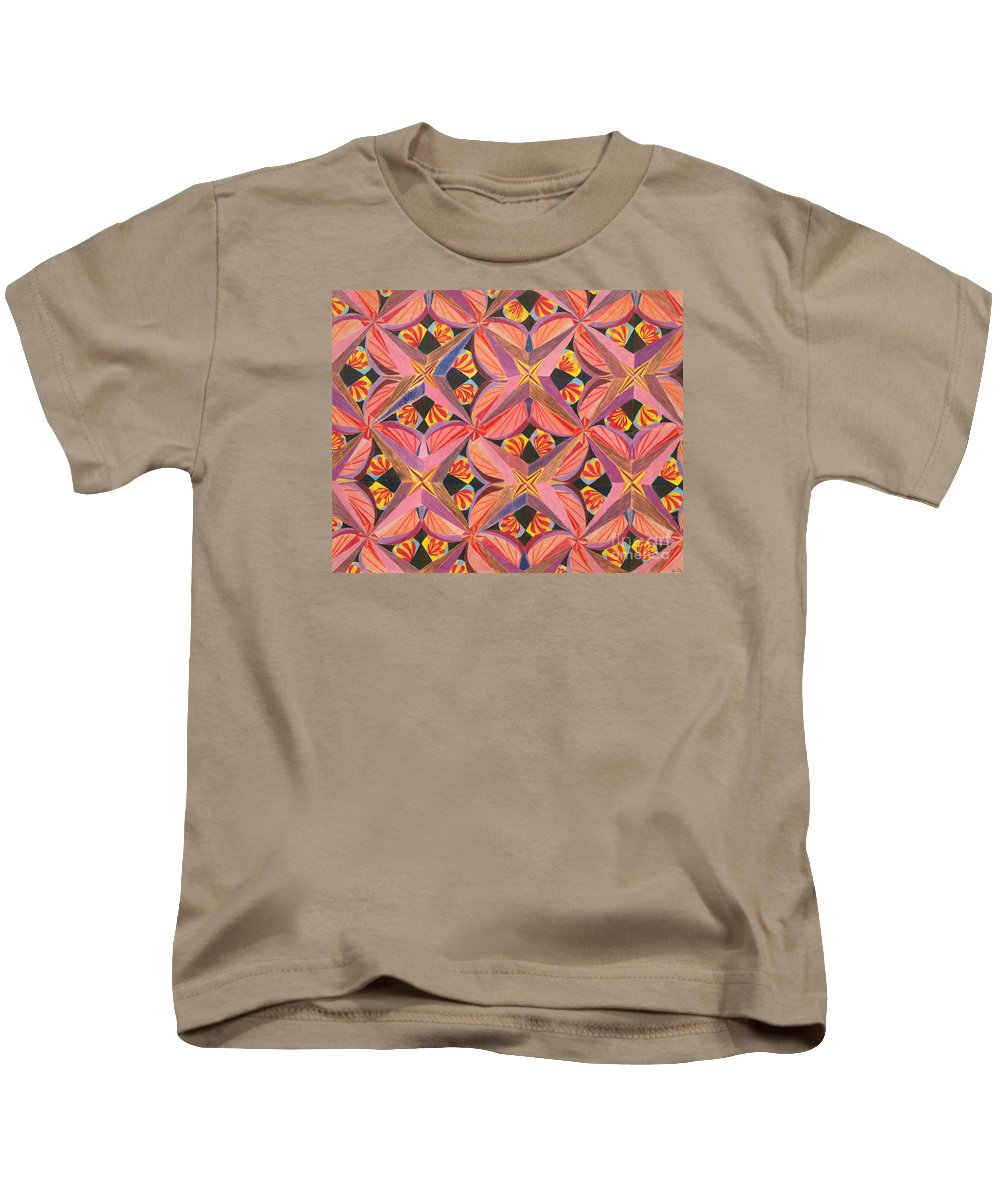 Butterfly Kids T-Shirt featuring the drawing Monarch by Kim Sy Ok