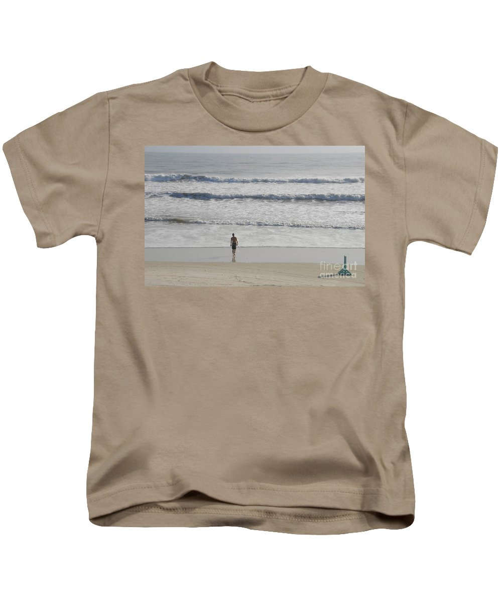 Surfing Kids T-Shirt featuring the photograph Morning Surf by David Lee Thompson