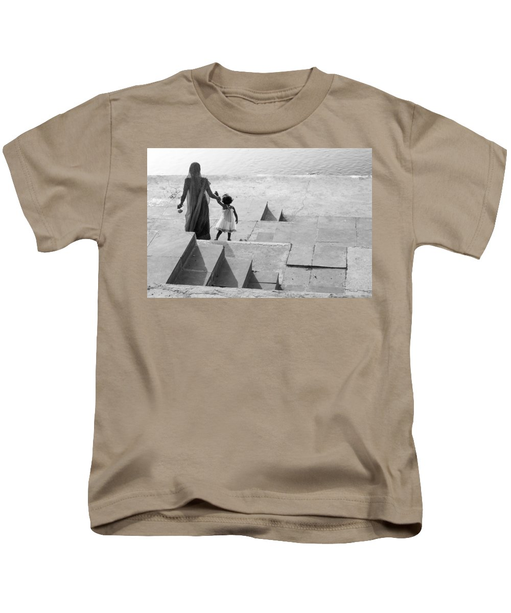Mother Kids T-Shirt featuring the photograph Mothers Love by Prakash Ghai