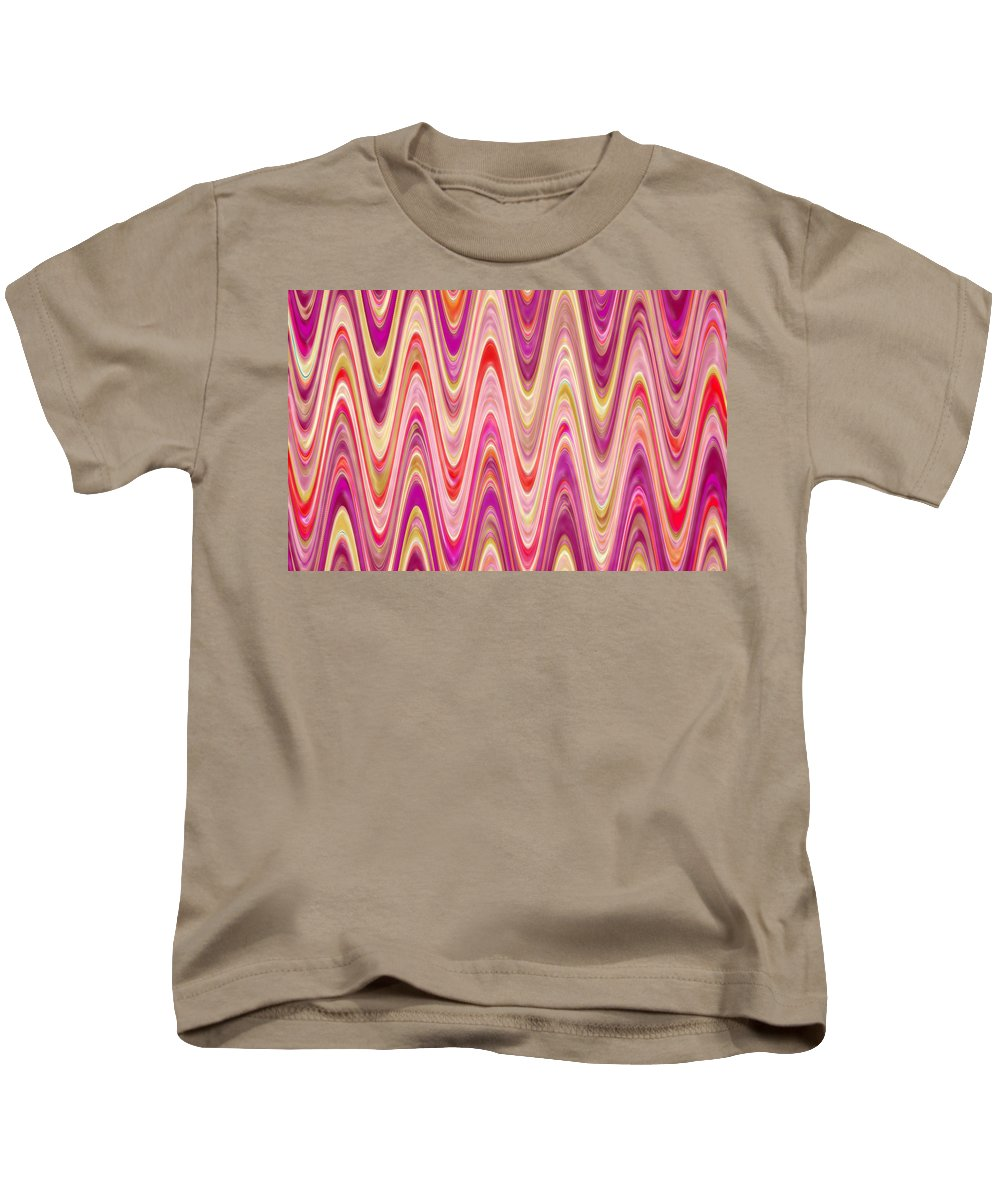 Moveonart! Digital Gallery Kids T-Shirt featuring the digital art Moveonart Lively Waves Of Joy by Jacob Kanduch