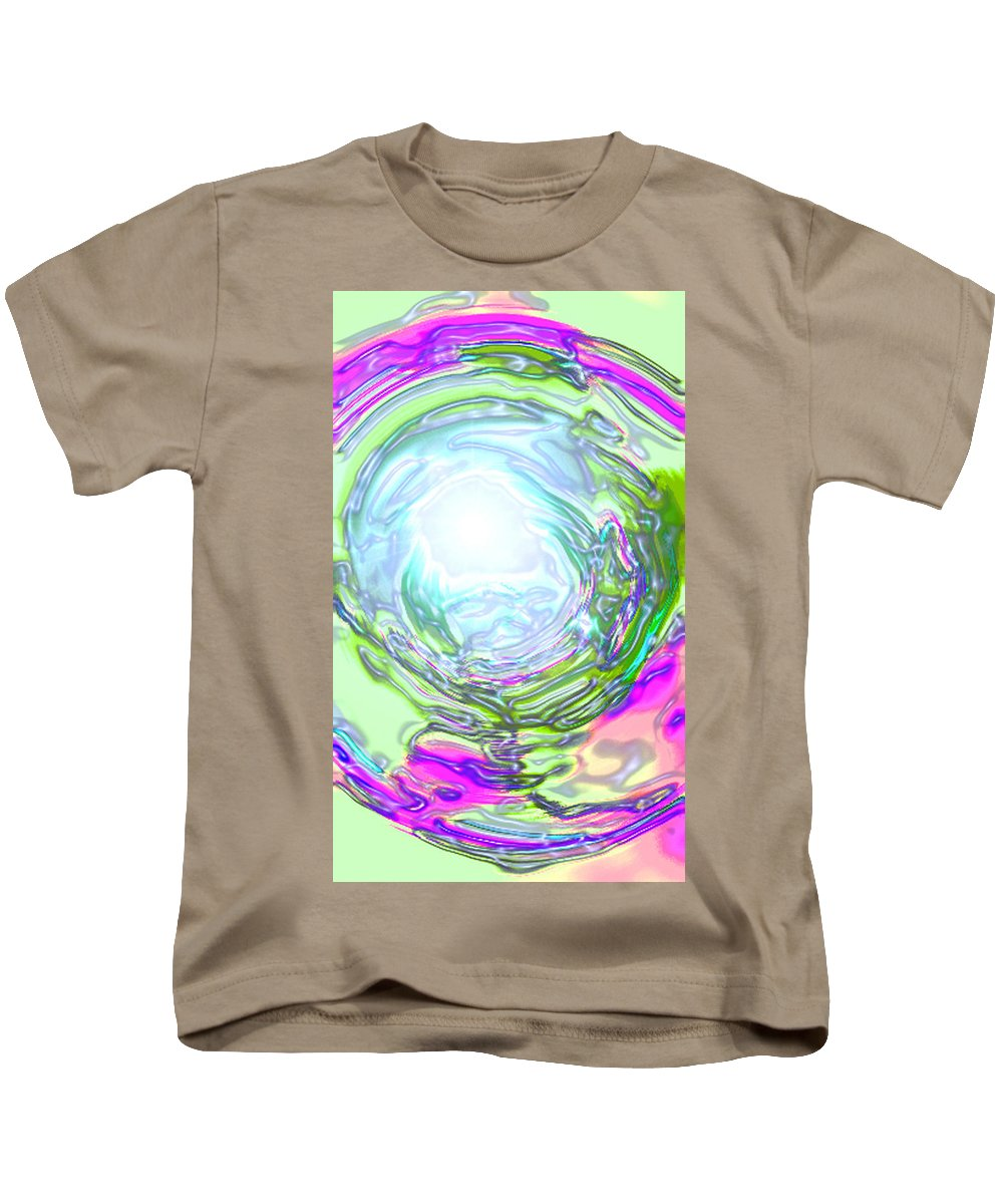 Moveonart! Digital Gallery Kids T-Shirt featuring the digital art Moveonart New Possiblity by Jacob Kanduch