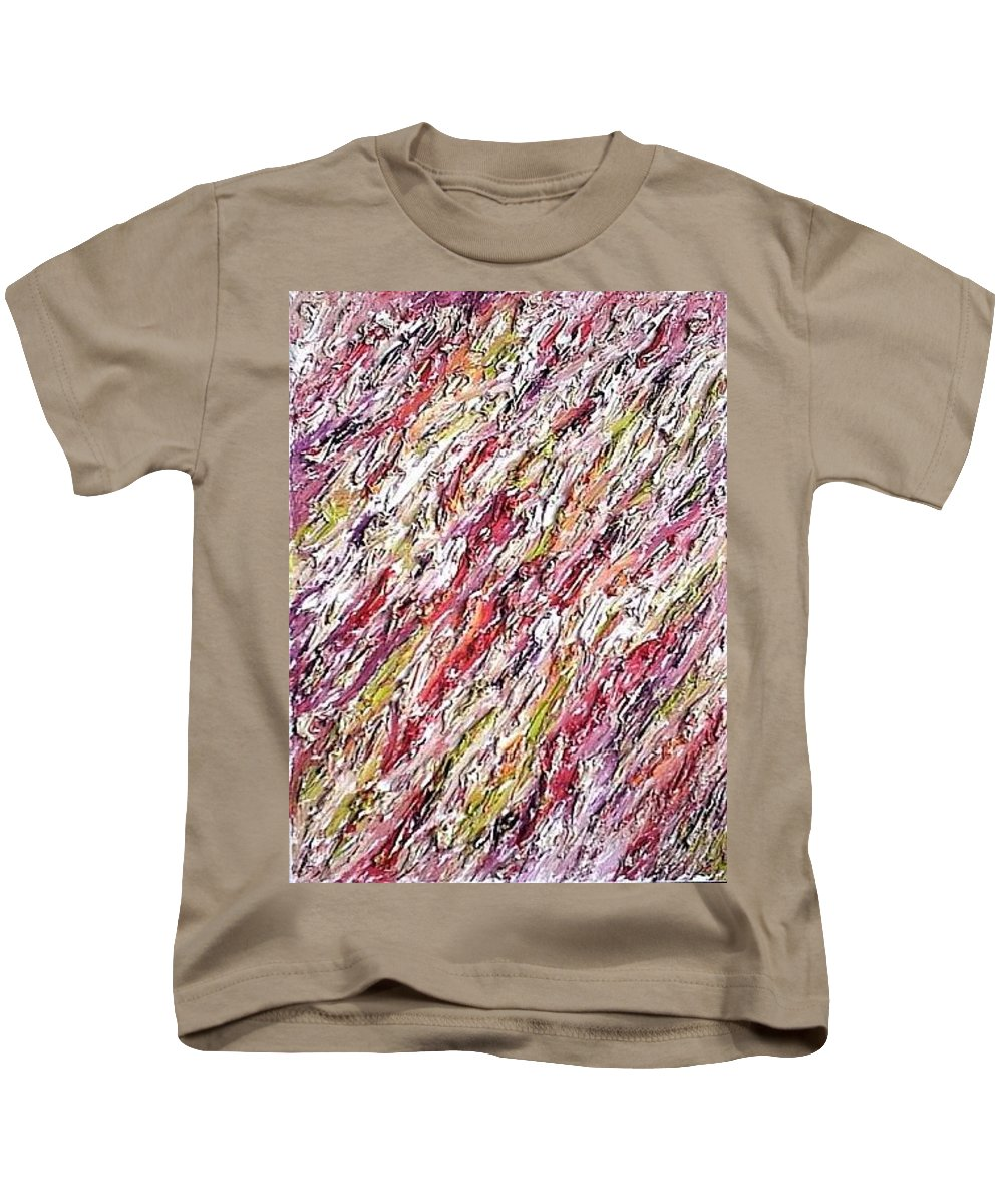 Moveonart! Digital Gallery Kids T-Shirt featuring the painting Moveonart St Clare Hotel Room by Jacob Kanduch