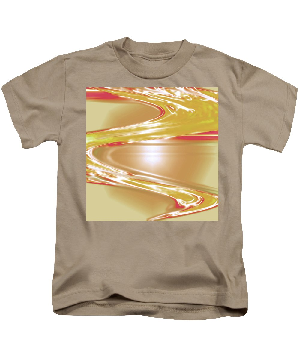 Moveonart! Digital Gallery Kids T-Shirt featuring the digital art Moveonart Wave Of The Annointing by Jacob Kanduch