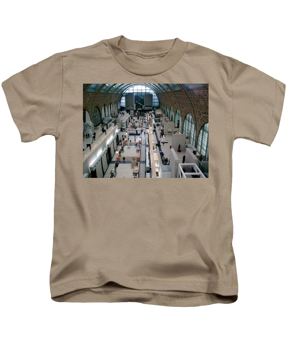 Museum Kids T-Shirt featuring the photograph Museum D'orsay Paris by Valerie Ornstein