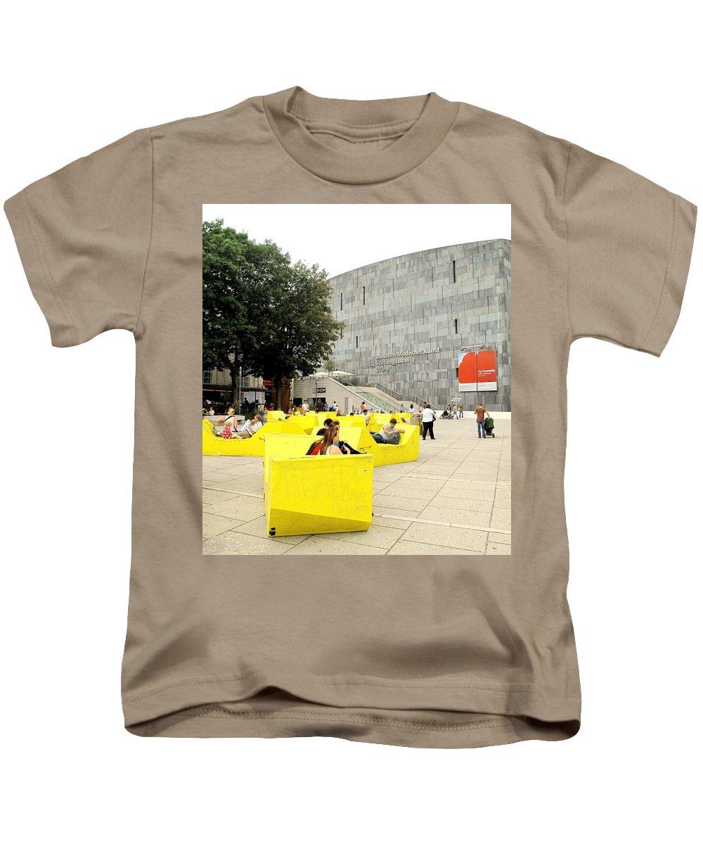 Museum Kids T-Shirt featuring the photograph Museum Modener Kunst by Ian MacDonald