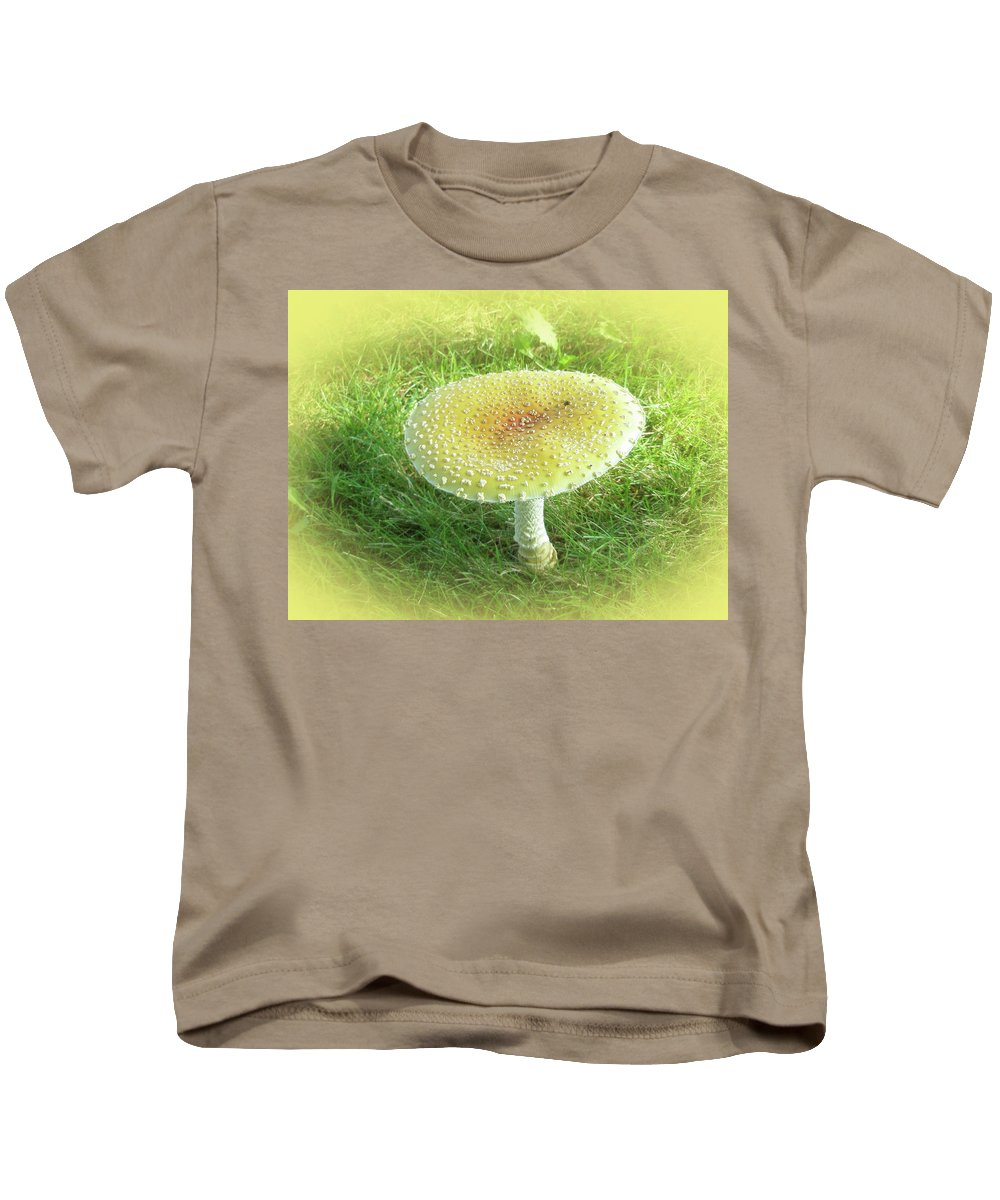 Mushroom Kids T-Shirt featuring the photograph Mushroom - Amanita Muscaria Guessowii by Mother Nature