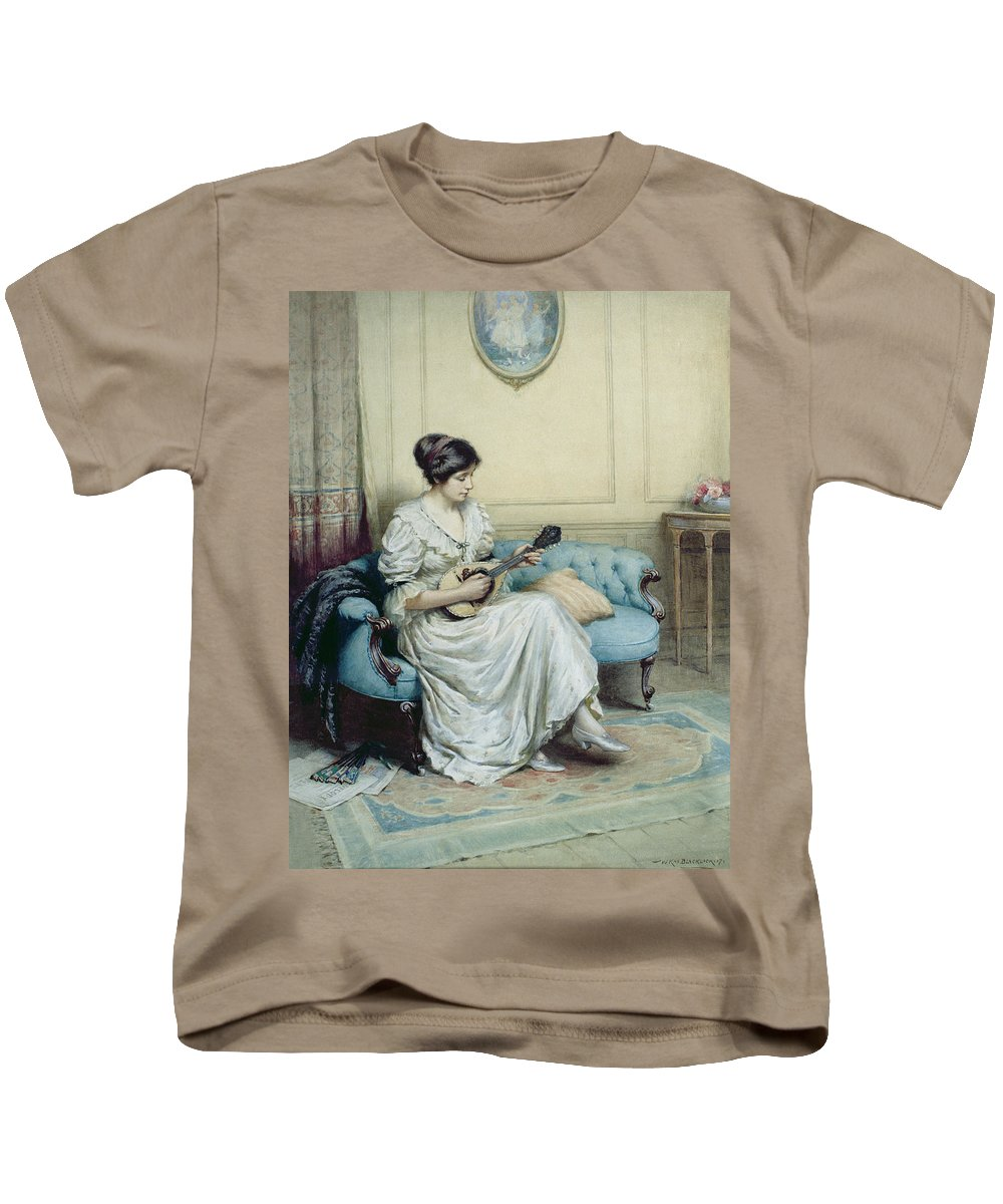 Musical Kids T-Shirt featuring the painting Musical Interlude by William Kay Blacklock