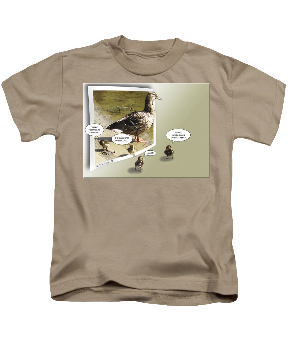 2d Kids T-Shirt featuring the photograph My Brood by Brian Wallace