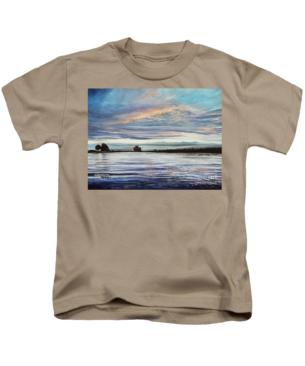 Landscape Kids T-Shirt featuring the painting My First Sunset by Elizabeth Robinette Tyndall