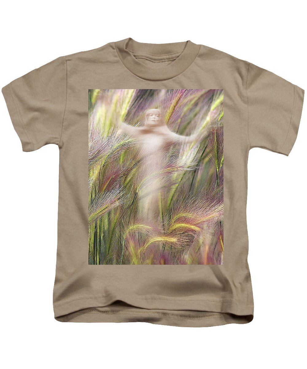 Kids T-Shirt featuring the photograph Mysterious Lady 2 by Marty Koch