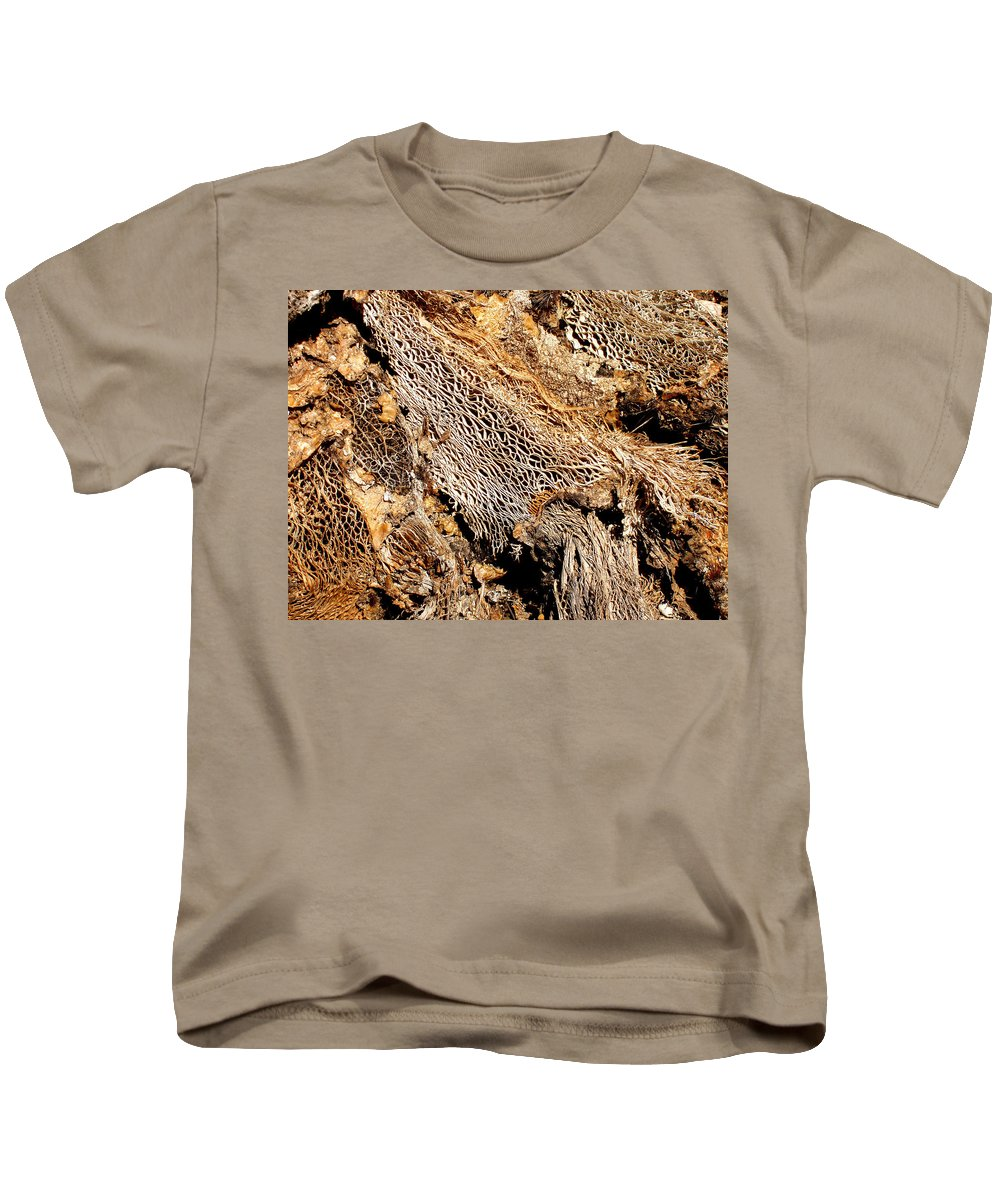 Texture Kids T-Shirt featuring the photograph Natural Textural Abstract by Wayne Potrafka