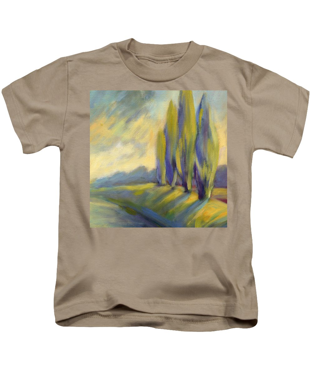 Trees Kids T-Shirt featuring the painting New Beginning 3 by Konnie Kim