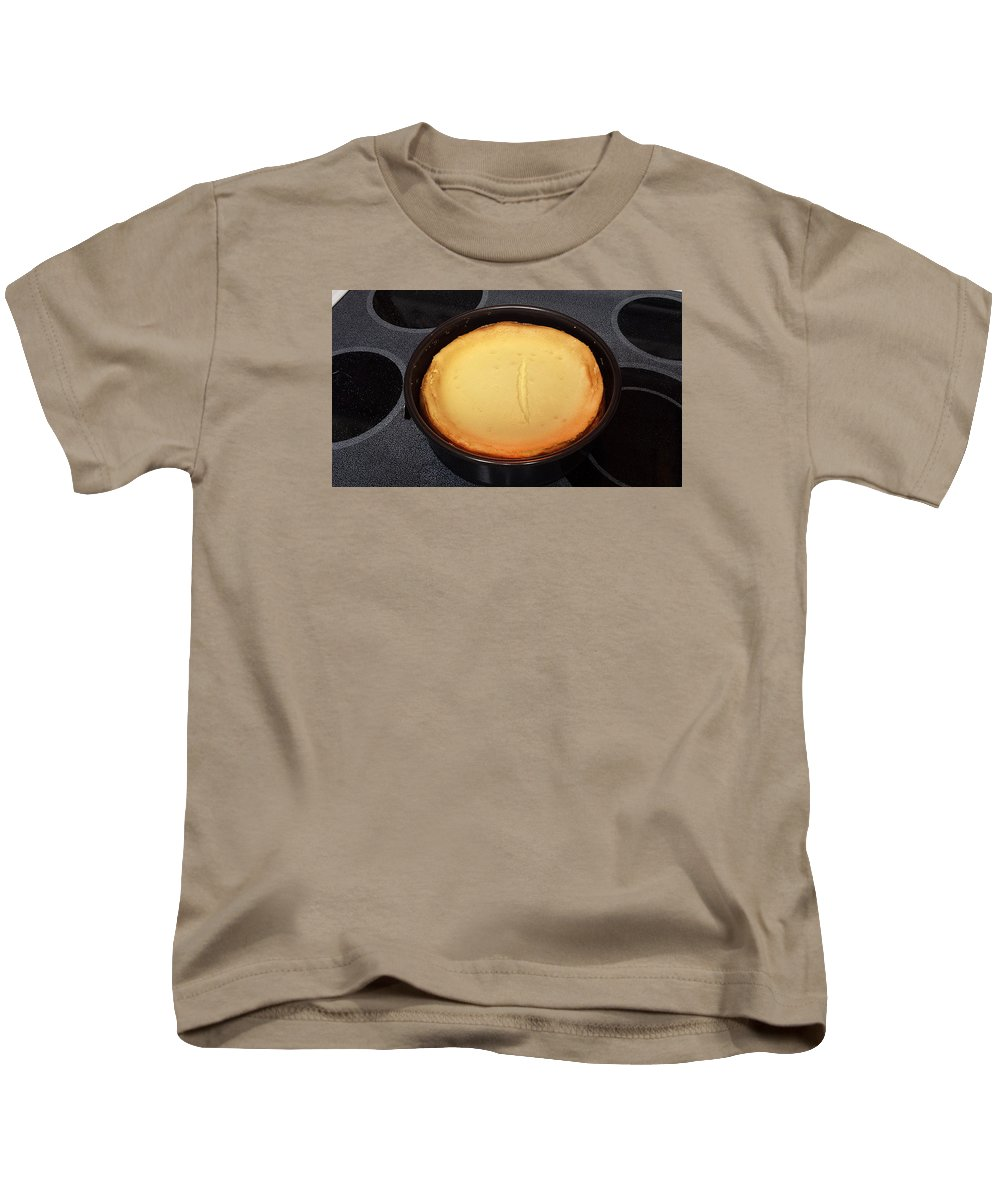 Kids T-Shirt featuring the photograph New York Style Cheesecake by Rich Franco