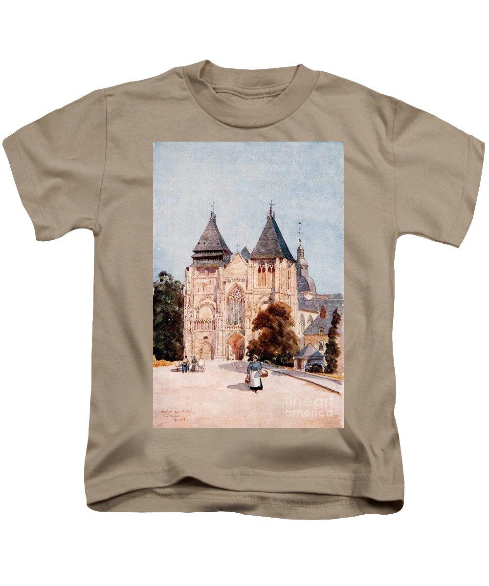 Herbert Menzies Marshall - Nôtre Dame De La Côuture Kids T-Shirt featuring the painting Notre Dame De La Couture by MotionAge Designs