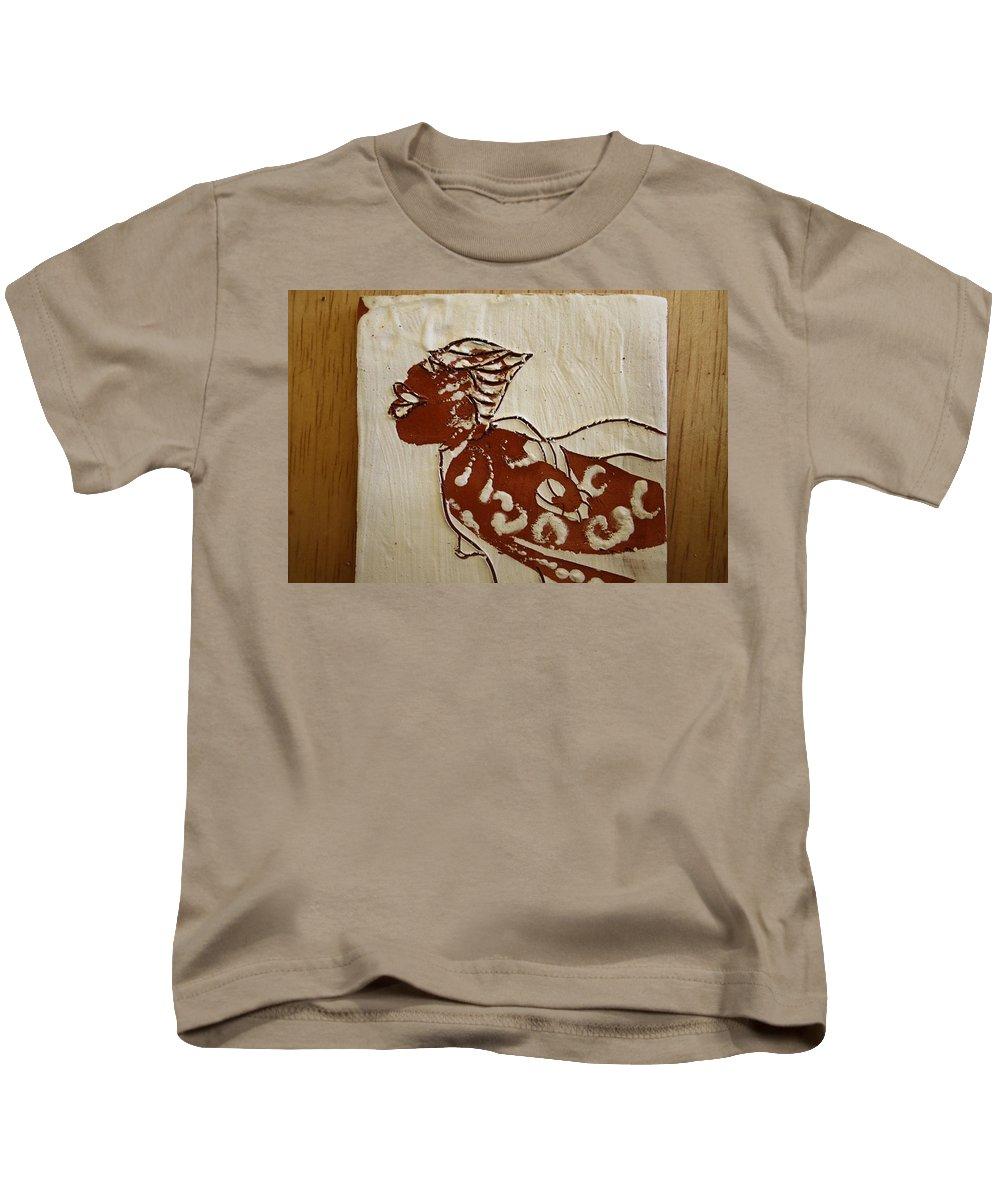 Jesus Kids T-Shirt featuring the ceramic art Nude 7 - Tile by Gloria Ssali