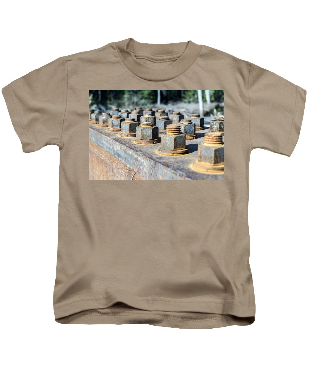 Metal Kids T-Shirt featuring the photograph Nuts And Screws by Stephen Coletta