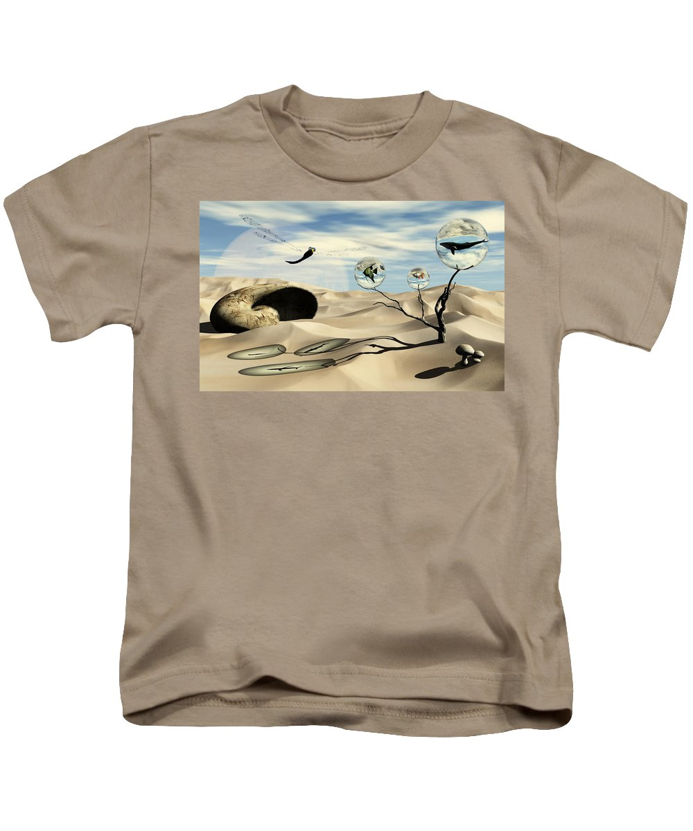 Surrealism Kids T-Shirt featuring the digital art Observations by Richard Rizzo