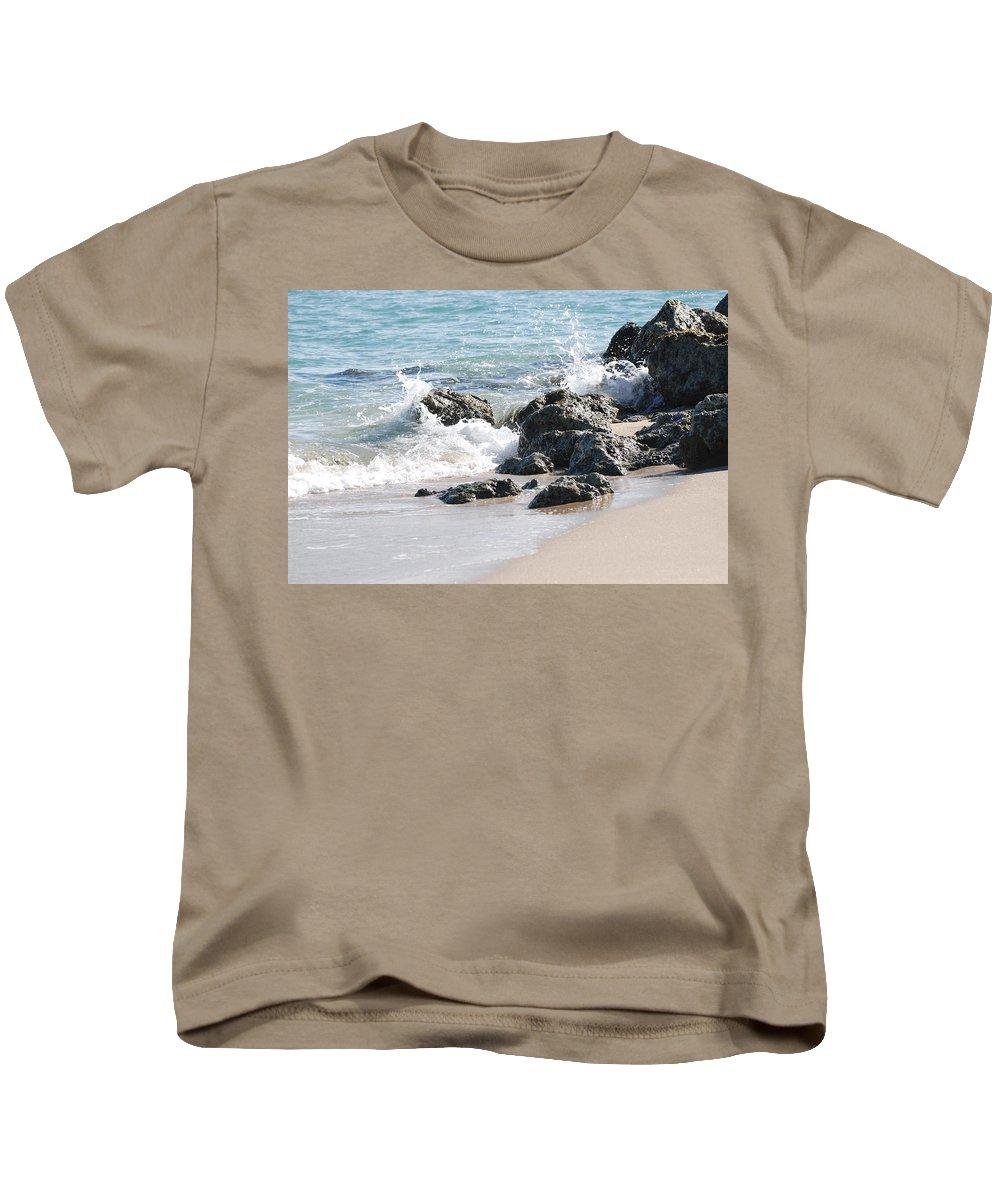 Ocean Kids T-Shirt featuring the photograph Ocean Drive Rocks by Rob Hans