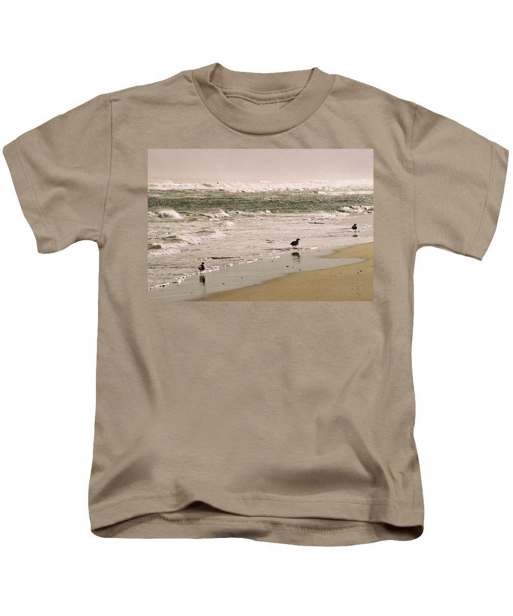 Seascape Kids T-Shirt featuring the photograph Ocean Edge by Steve Karol
