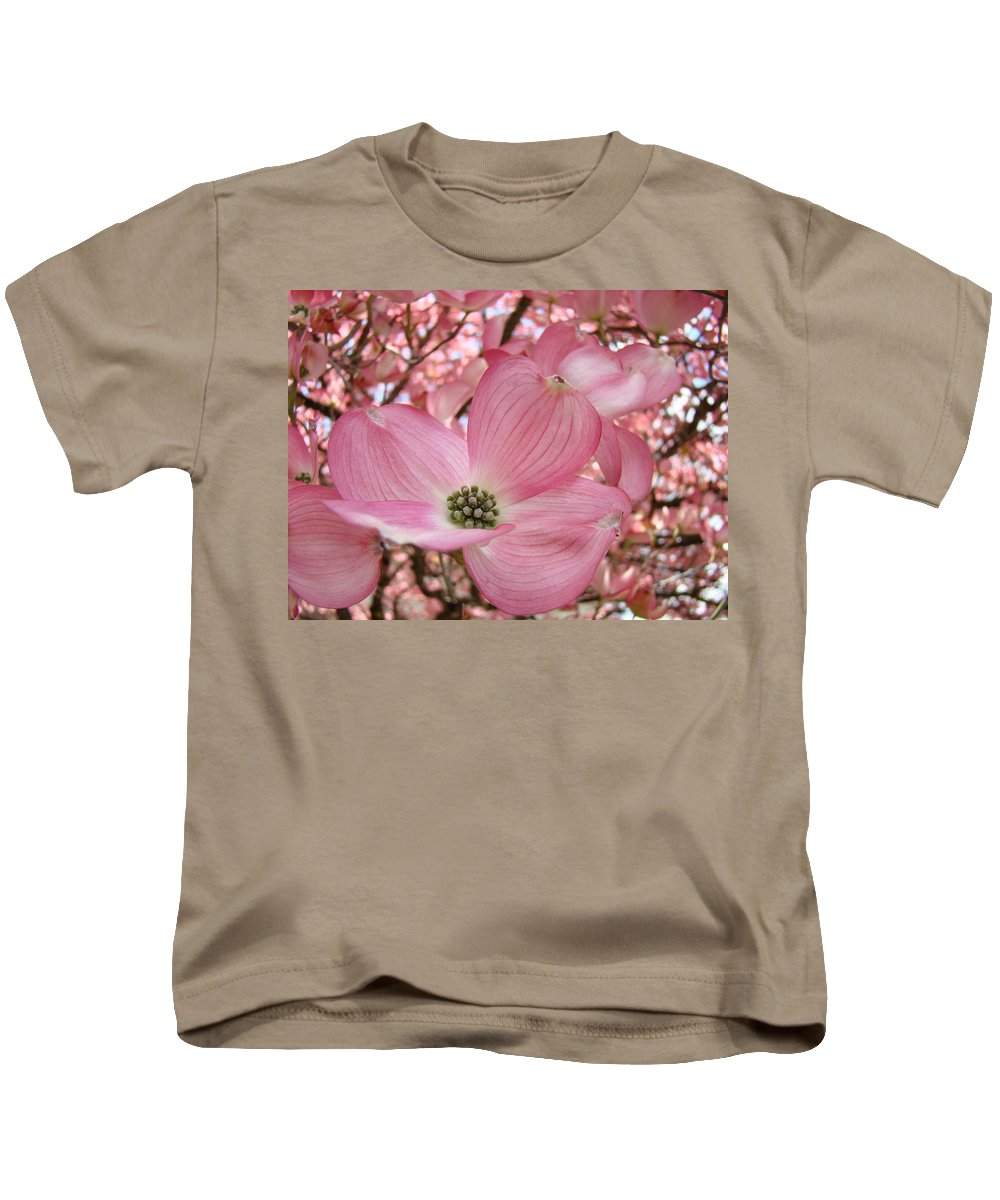 Dogwood Kids T-Shirt featuring the photograph Office Art Prints Pink Flowering Dogwood Tree 1 Giclee Prints Baslee Troutman by Baslee Troutman