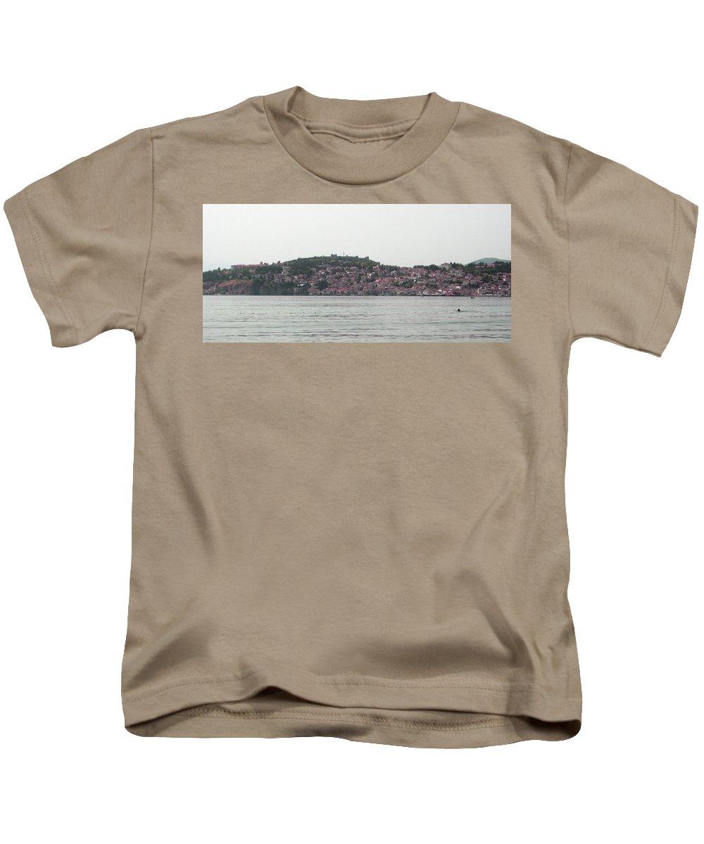 #ohrid #lake #oldtown Kids T-Shirt featuring the photograph Ohrid by Maja Jakimovska