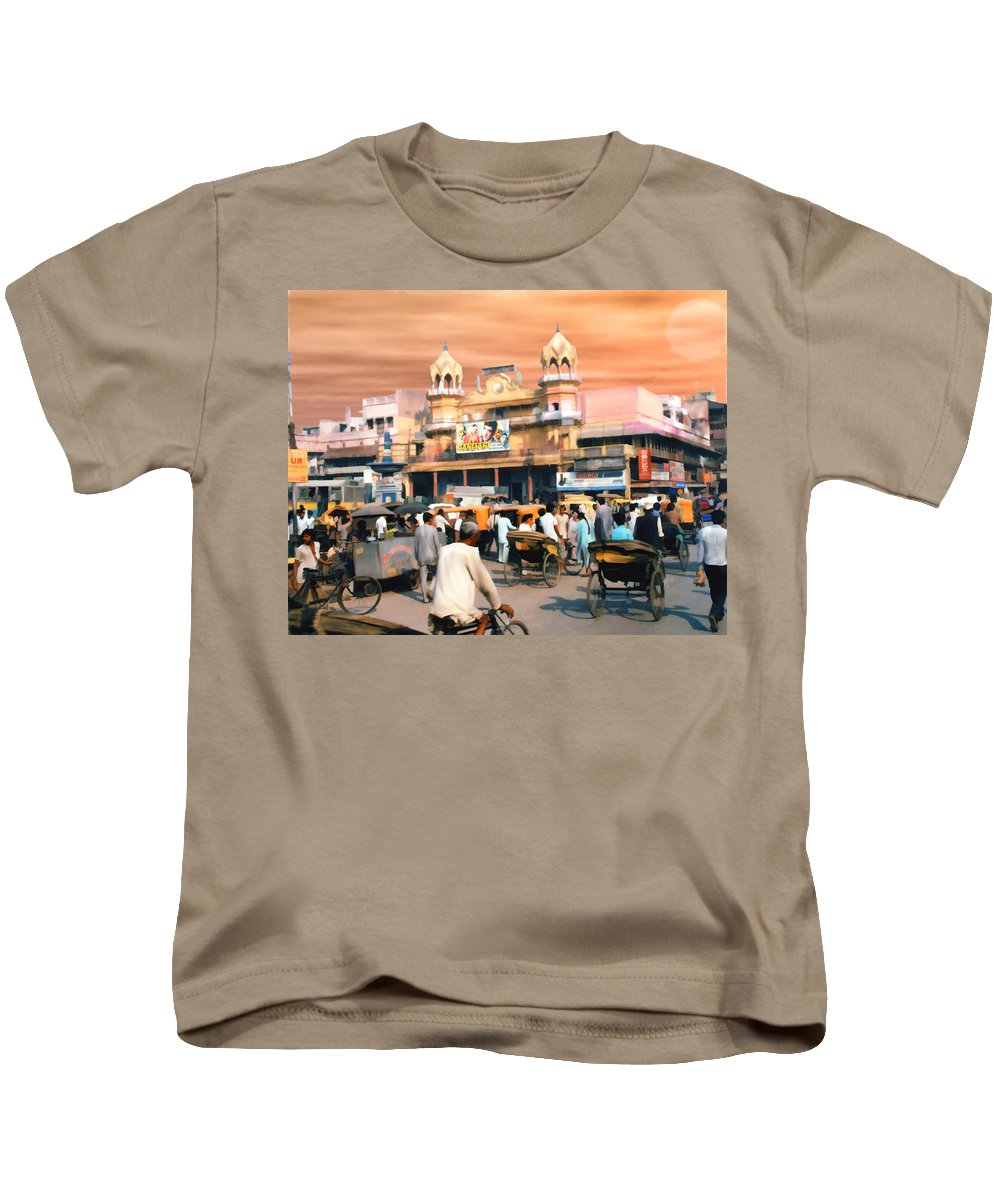 India Kids T-Shirt featuring the photograph Old Dehli by Kurt Van Wagner