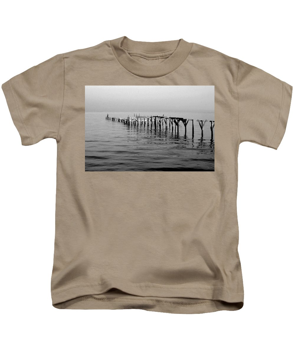 Beach Kids T-Shirt featuring the painting Old Dock by Michael Thomas