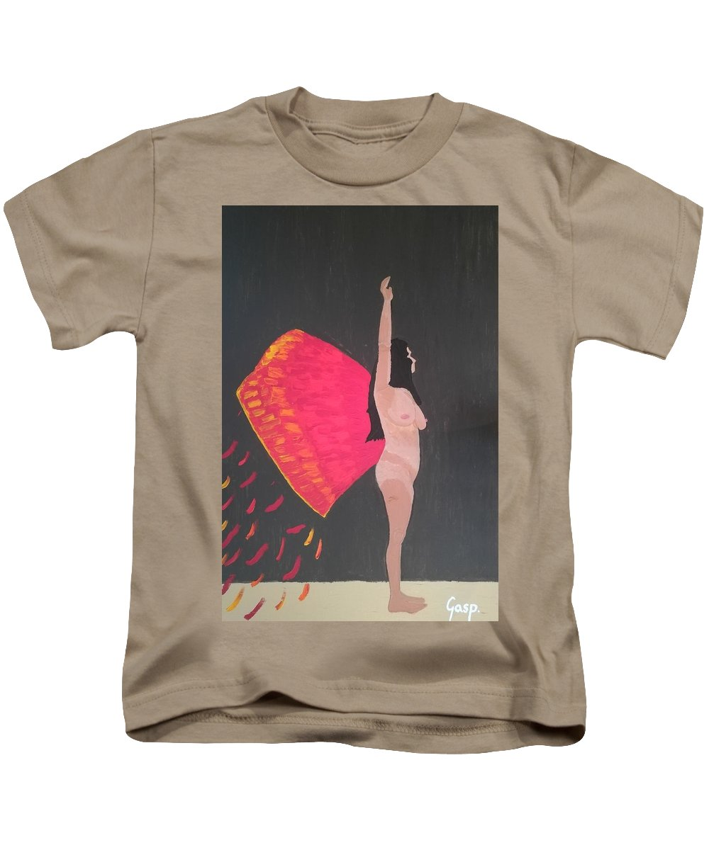 Fly Kids T-Shirt featuring the painting On Wings Of Creation by Martina Gasp