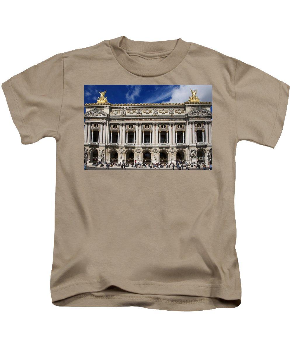 Paris Kids T-Shirt featuring the photograph Opera Garnier. Paris. France by Bernard Jaubert
